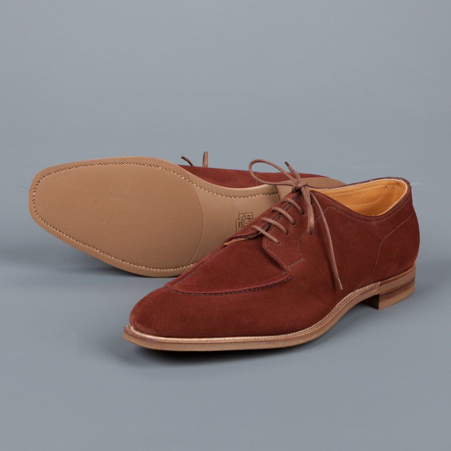 Edward Green Dover unlined in Clove Suede