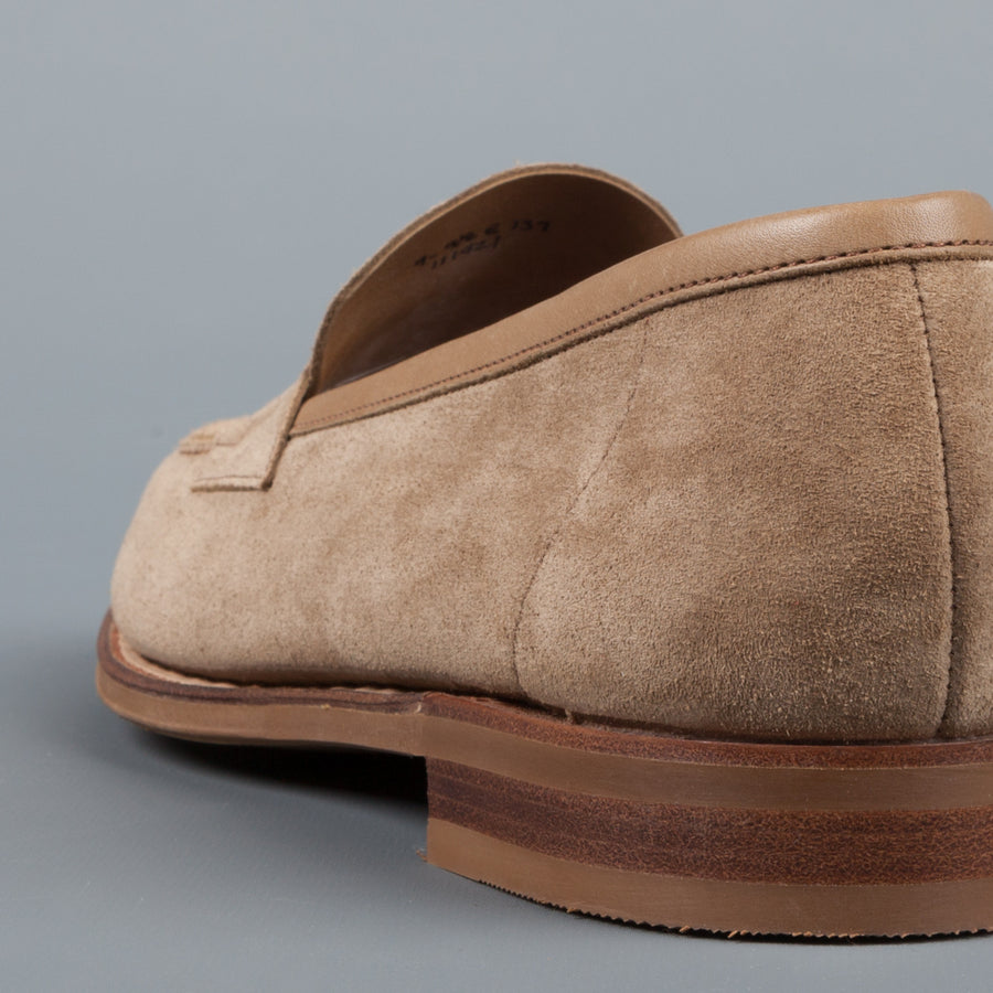 Edward Green Duke unlined loafer in Mushroom Suede