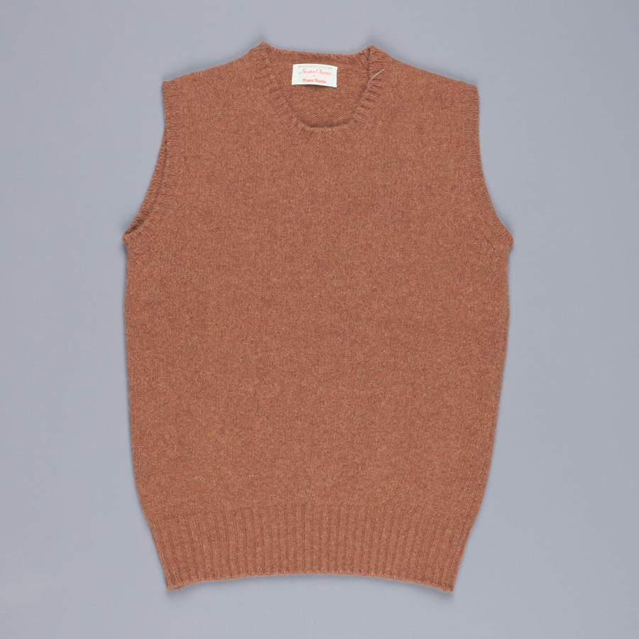 Scott & Charters x Frans Boone triple thread sleeveless  crew neck Hazelnut