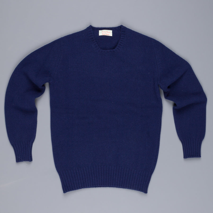 Scott & Charters x Frans Boone triple thread slim fit crew neck American Navy