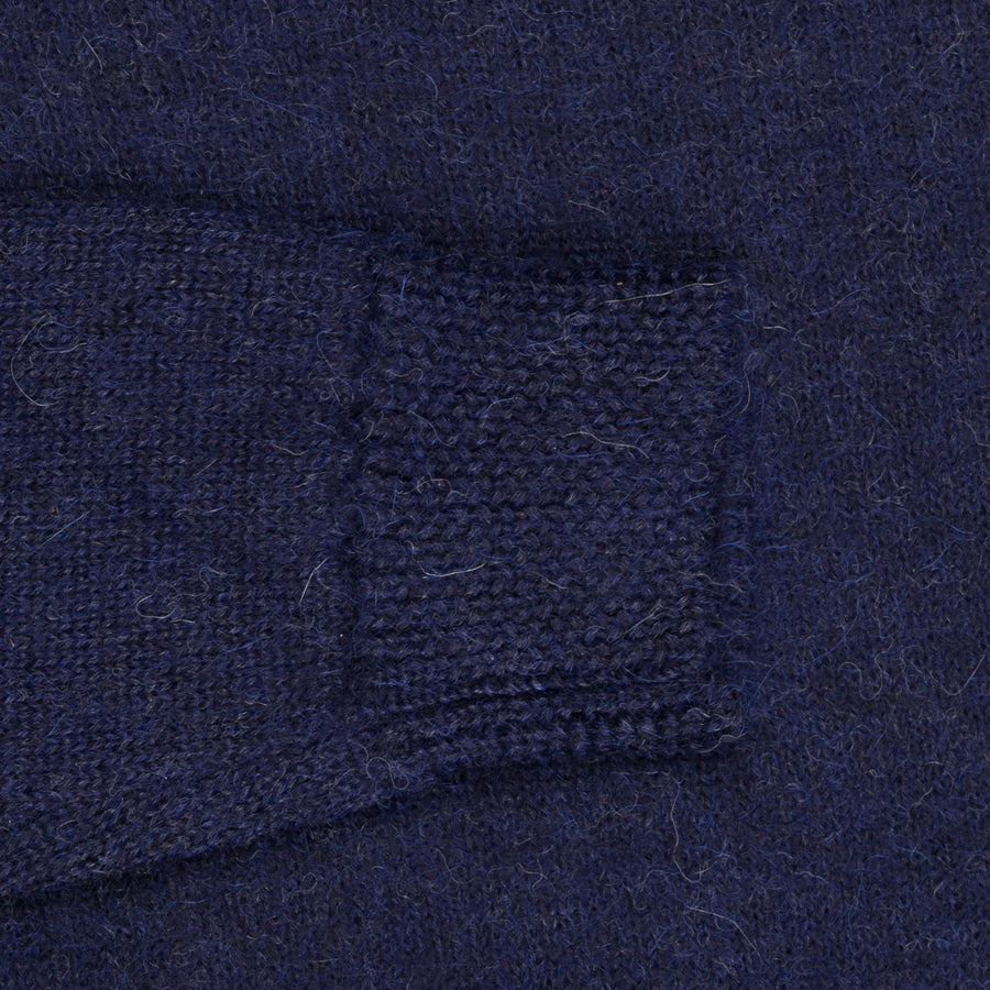 The Elder Statesman Alpaca Lightweight Call her crew Navy