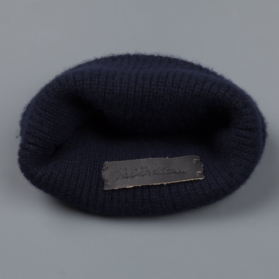 The Elder Statesman 100% Cashmere Watchman cap navy