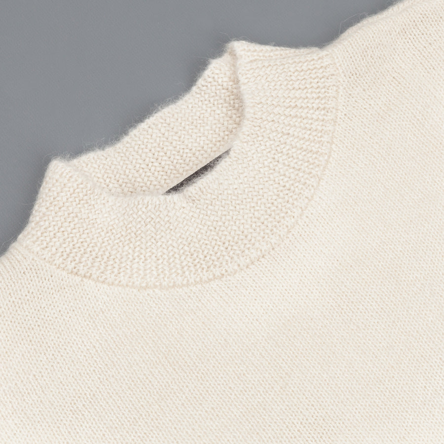 The Elder Statesman Alpaca Lightweight Call her crew White