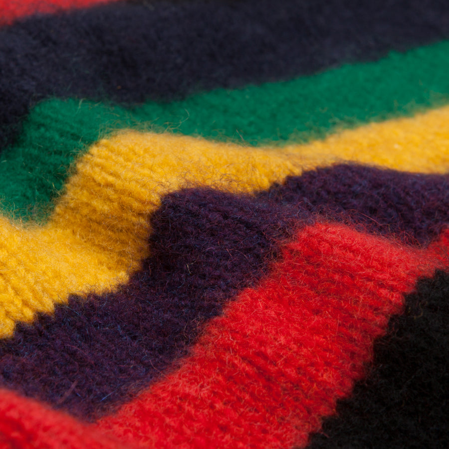 The Elder Statesman 100% Cashmere inch stripe sweater rasta