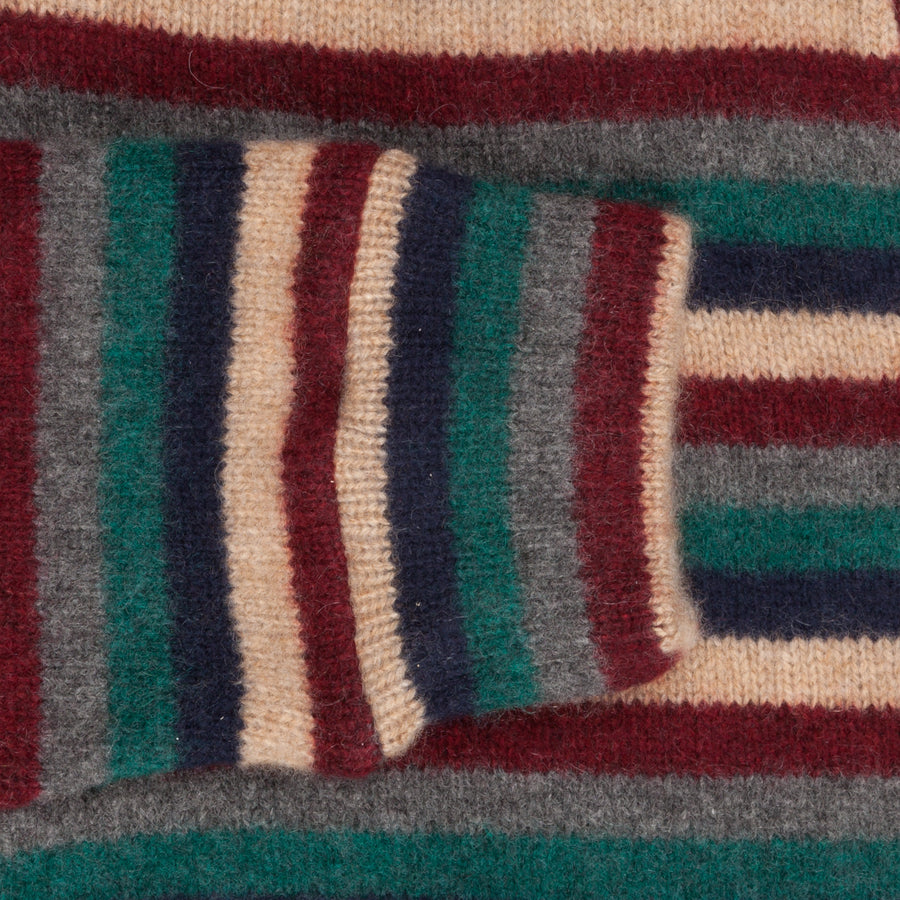 The Elder Statesman 100% Cashmere sunset stripe sweater x Frans Boone - Knokke Le Zoute Edition
