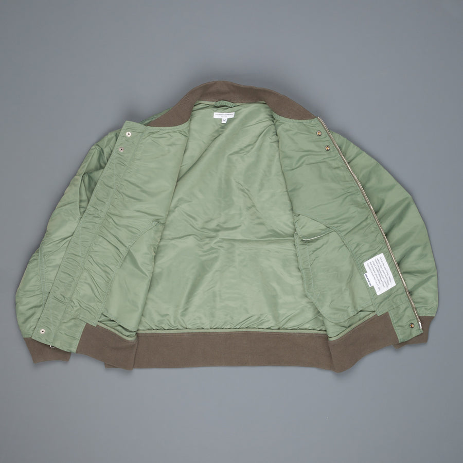 Engineered Garments Aviator Jacket Olive Flight Sateen