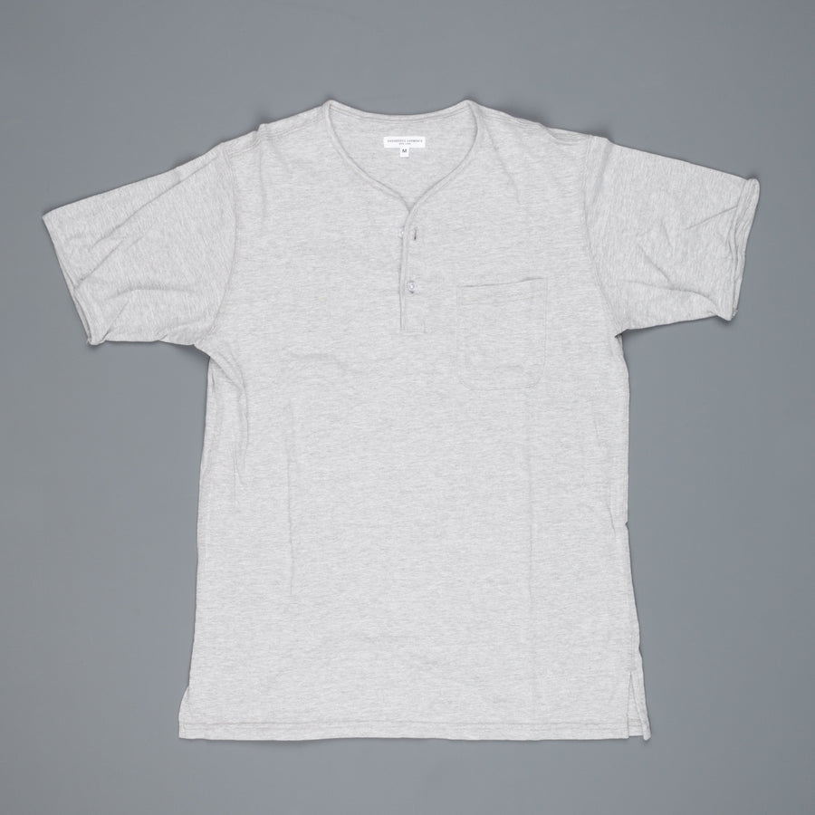Engineered Garments Henley Shirt Grey Solid Jersey