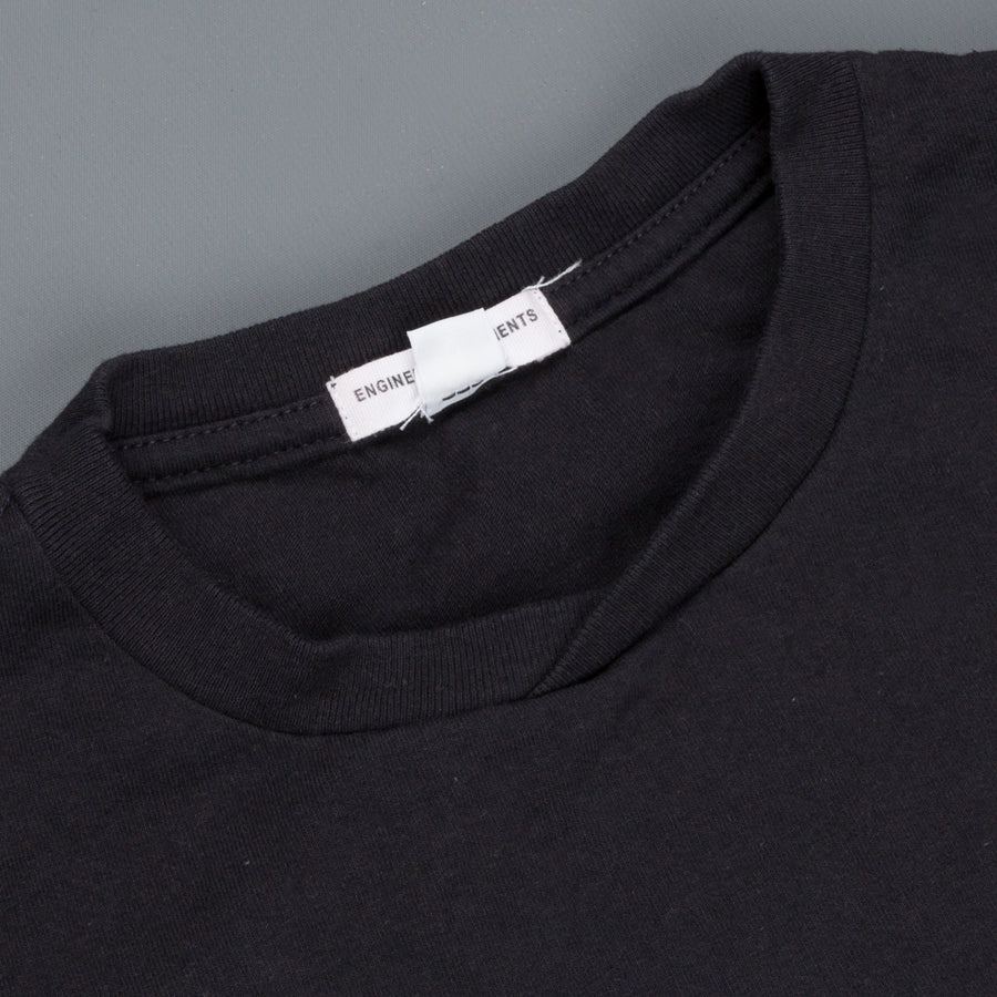 Engineered Garments Printed Cross Neck Tee Navy Nomad
