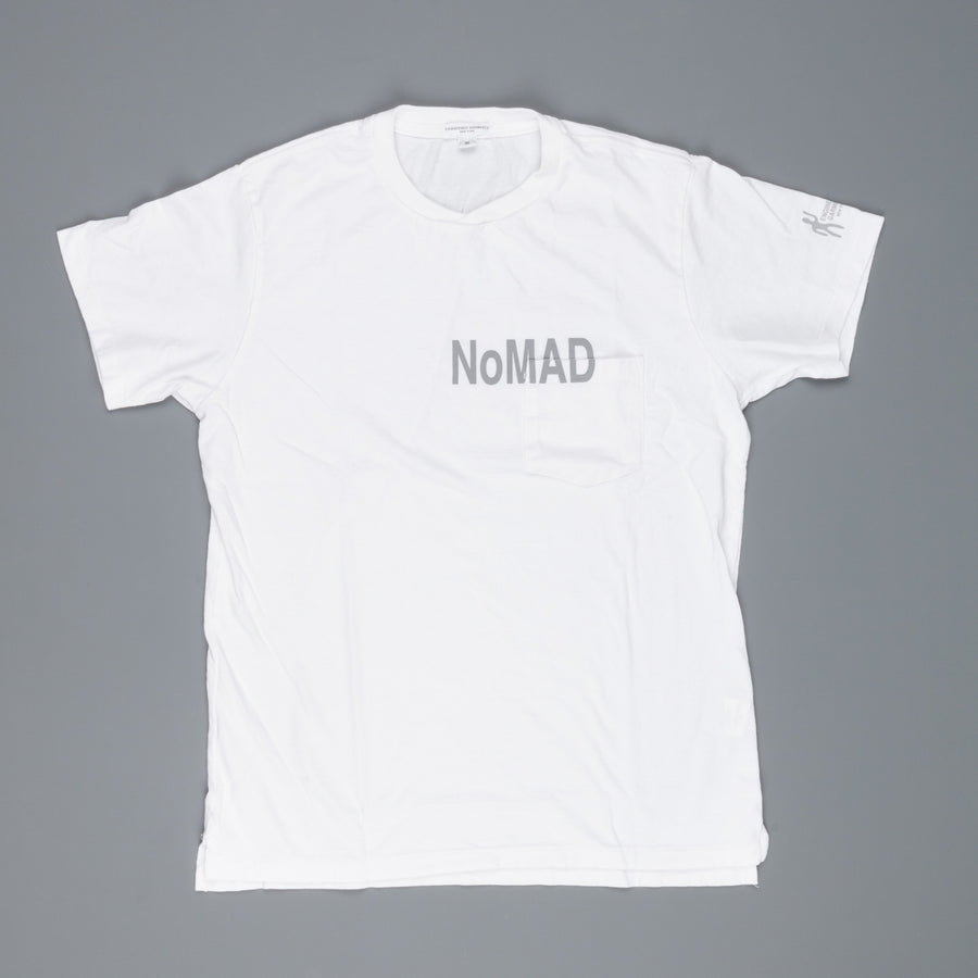 Engineered Garments Printed Cross Neck Tee White Nomad