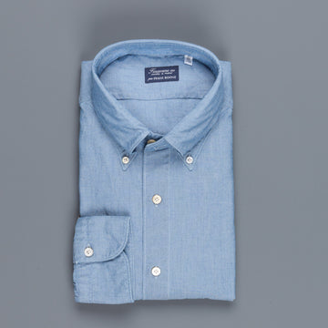 Finamore Gaeta Fit chambray shirt collo Lucio