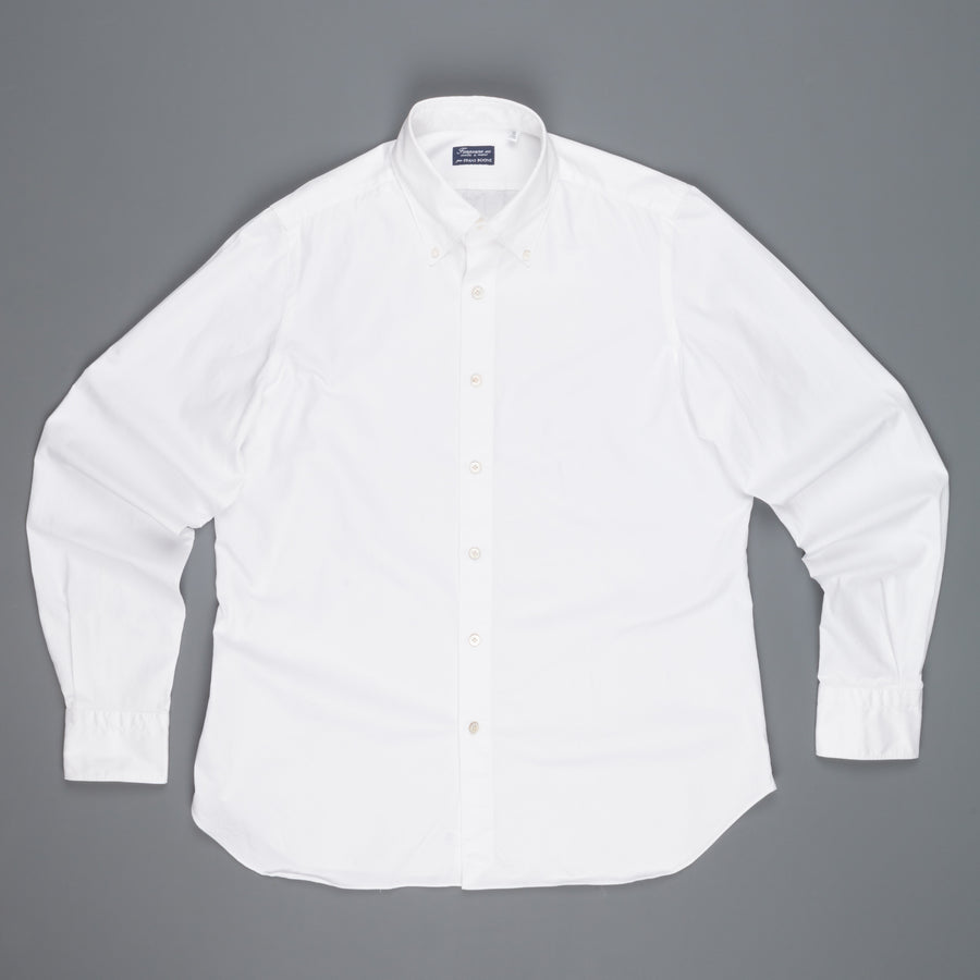 Finamore Gaeta Fit Collo Lucio in Voyage cotton by Alumo white