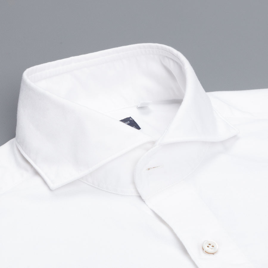 Finamore Gaeta shirt Sergio collar brushed oxford white