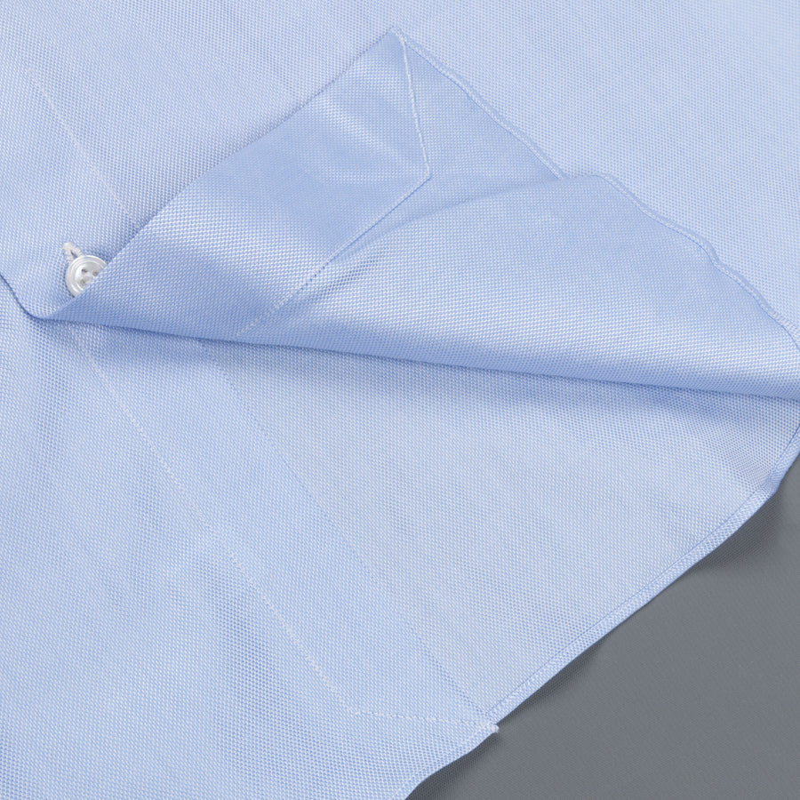 Finamore Milano shirt Eduardo collar fine oxford blue