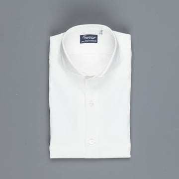 Finamore 'Traveller' Shirt Milano Fit Collar Eduardo White Alumo twill