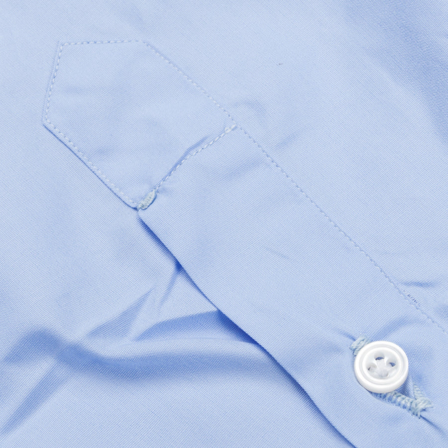 Finamore Napoli Shirt Soft Collar Eduardo Blue