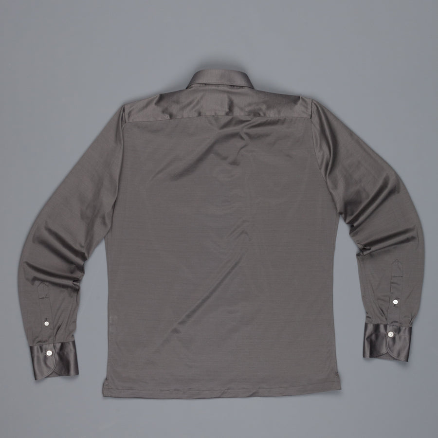Finamore Orlando Longsleeve Polo Achille Collar jersey grey