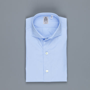 Finamore Seattle Shirt Blue Alumo poplin