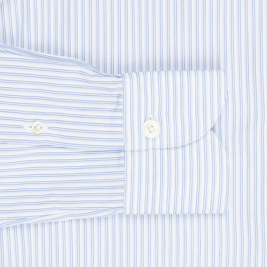 Finamore Seattle shirt blue cielo vintage stripes