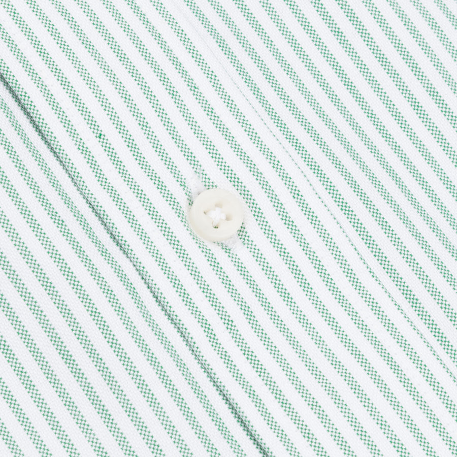Gitman Vintage oxford button down shirt green striped