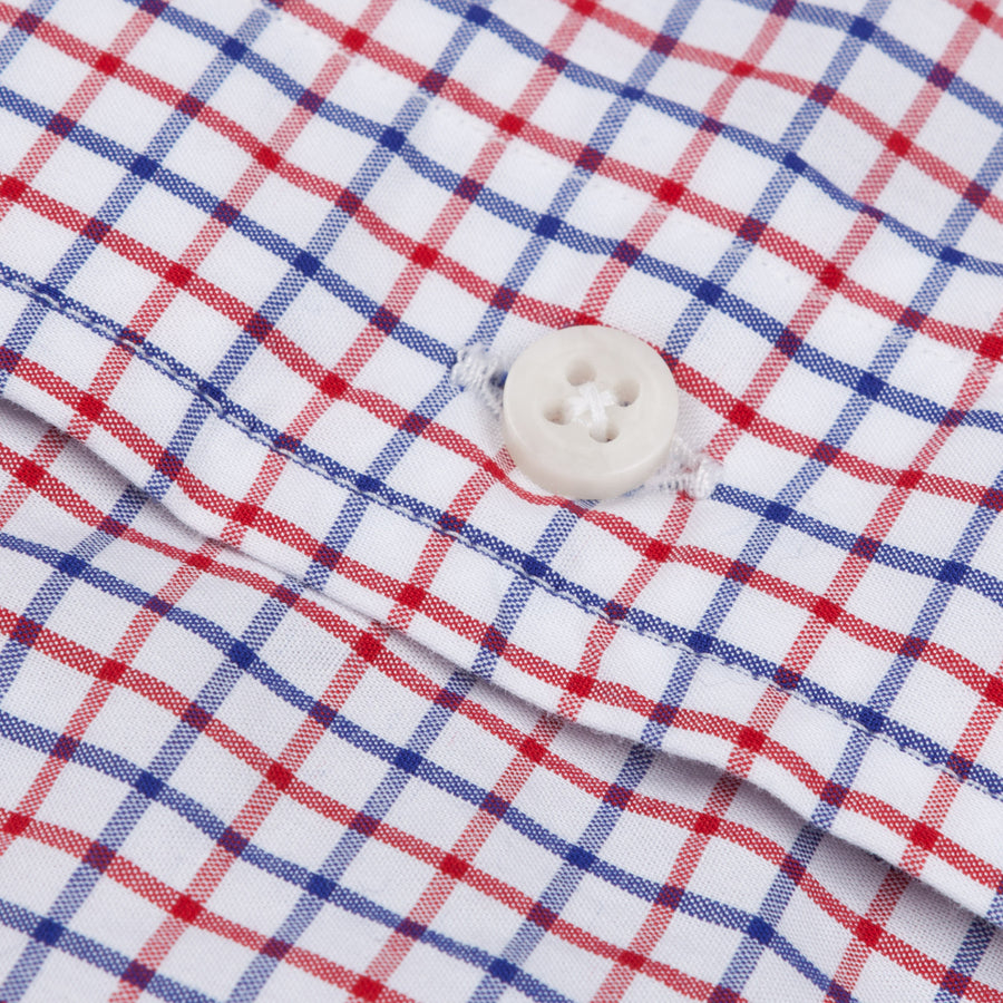 Gitman Vintage bd shirt windowpane red and blue