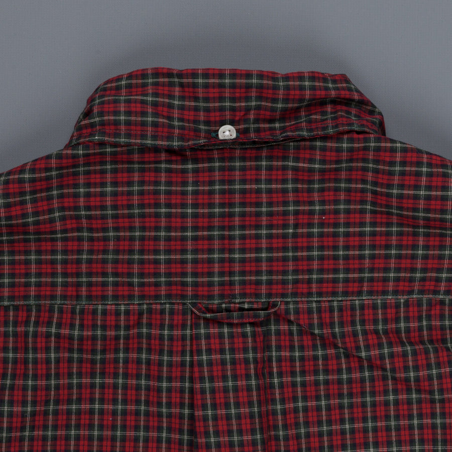 Gitman Vintage Bd Shirt Blue Red Shepherds Check Red Blue