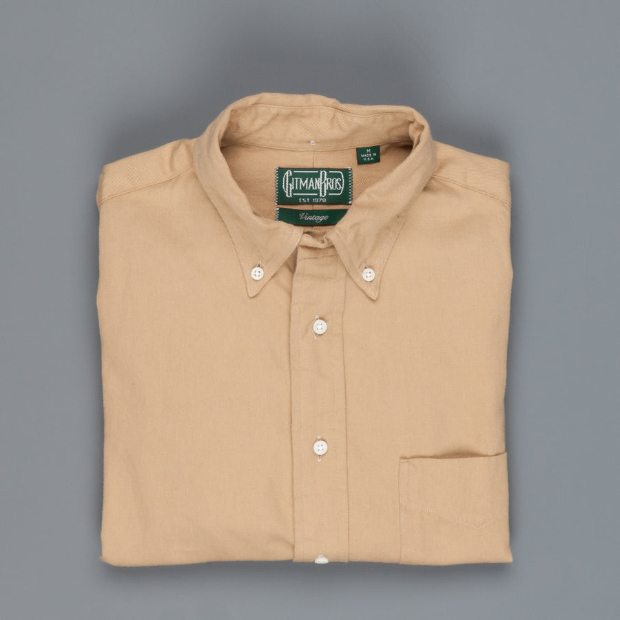 Gitman Vintage Button Down Shirt toast left hand twill