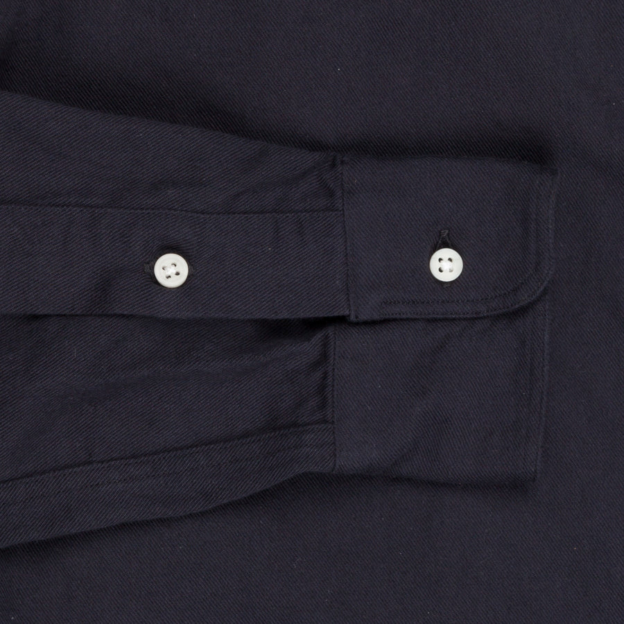 Gitman Vintage Button Down Shirt Navy left hand twill