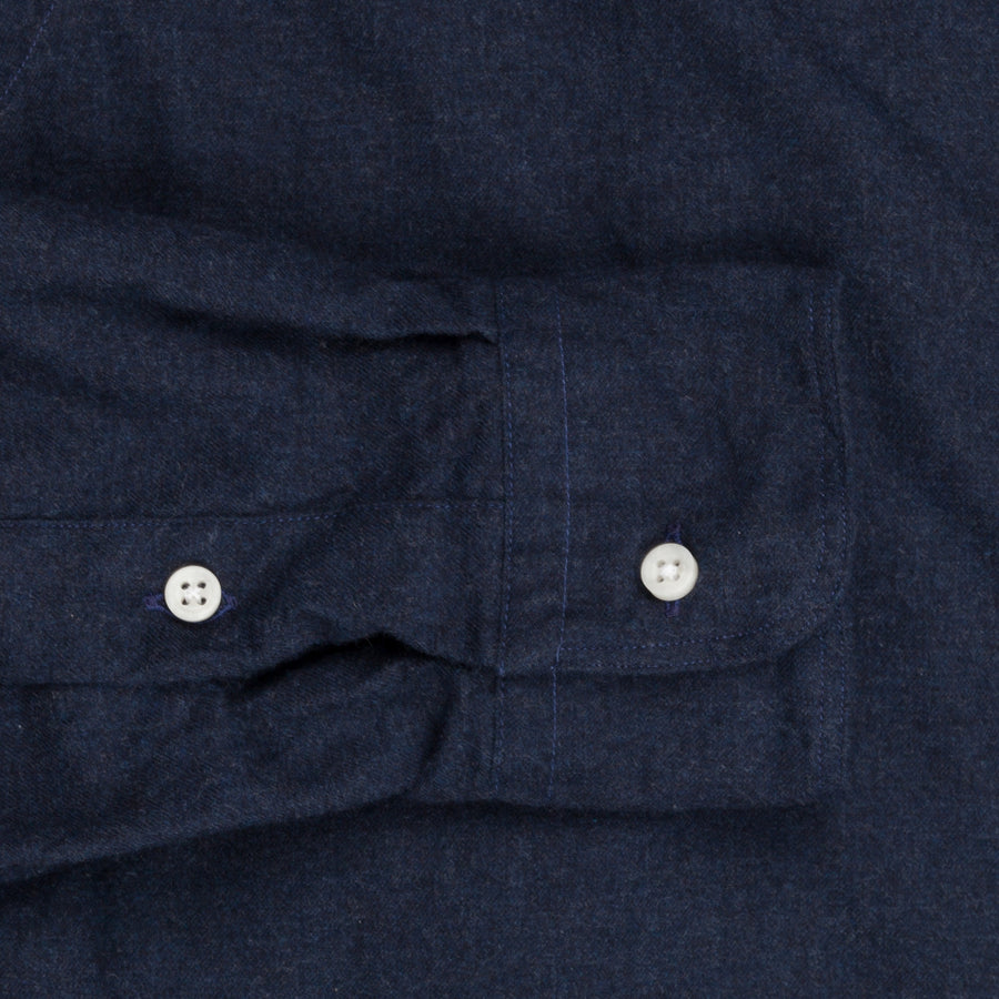Gitman Vintage Button Down Shirt dark indigo flannel