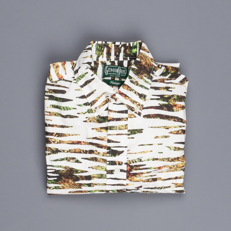 Gitman Vintage longsleeve button down shirt zebra jungle