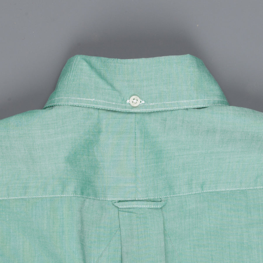 Gitman Vintage Button-Down Shirt Fine Chambray Green