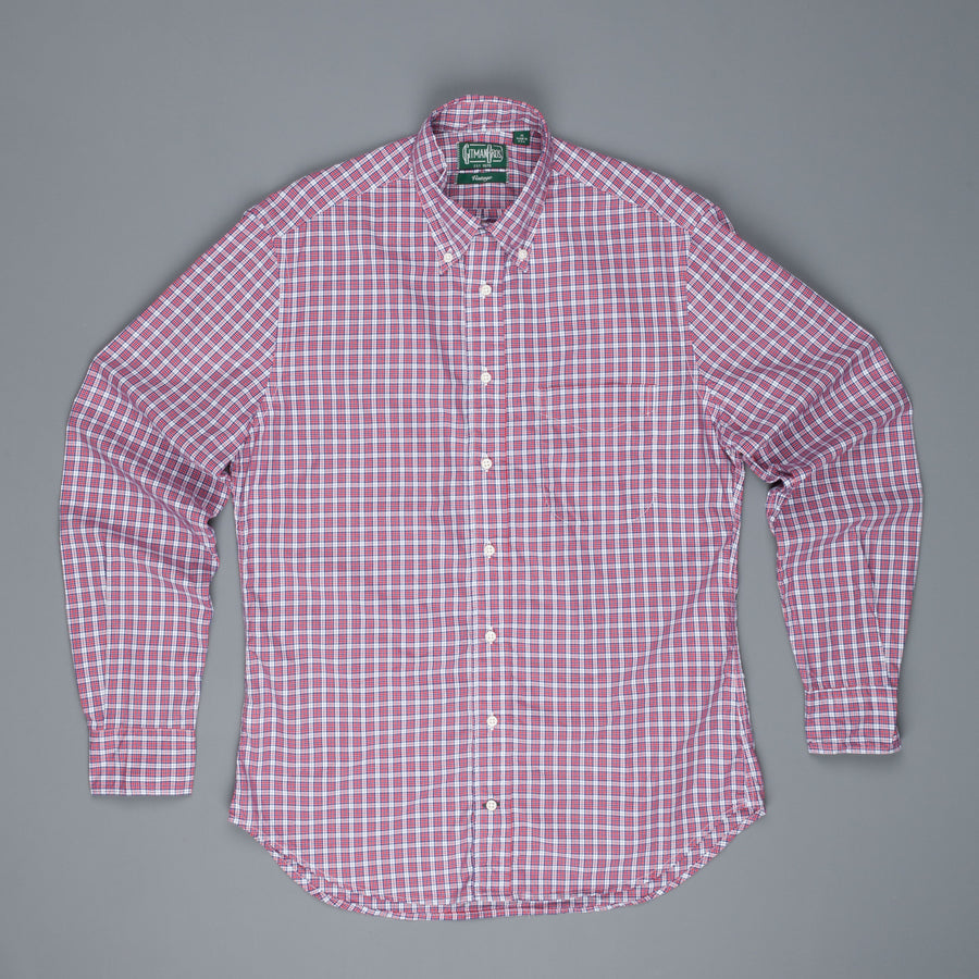 Gitman Vintage Button-Down Shirt Navy Red Check