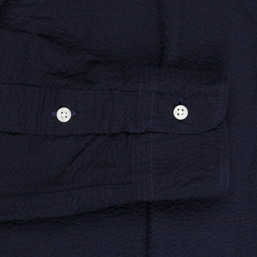 Gitman Vintage Button-Down Shirt Seersucker Navy