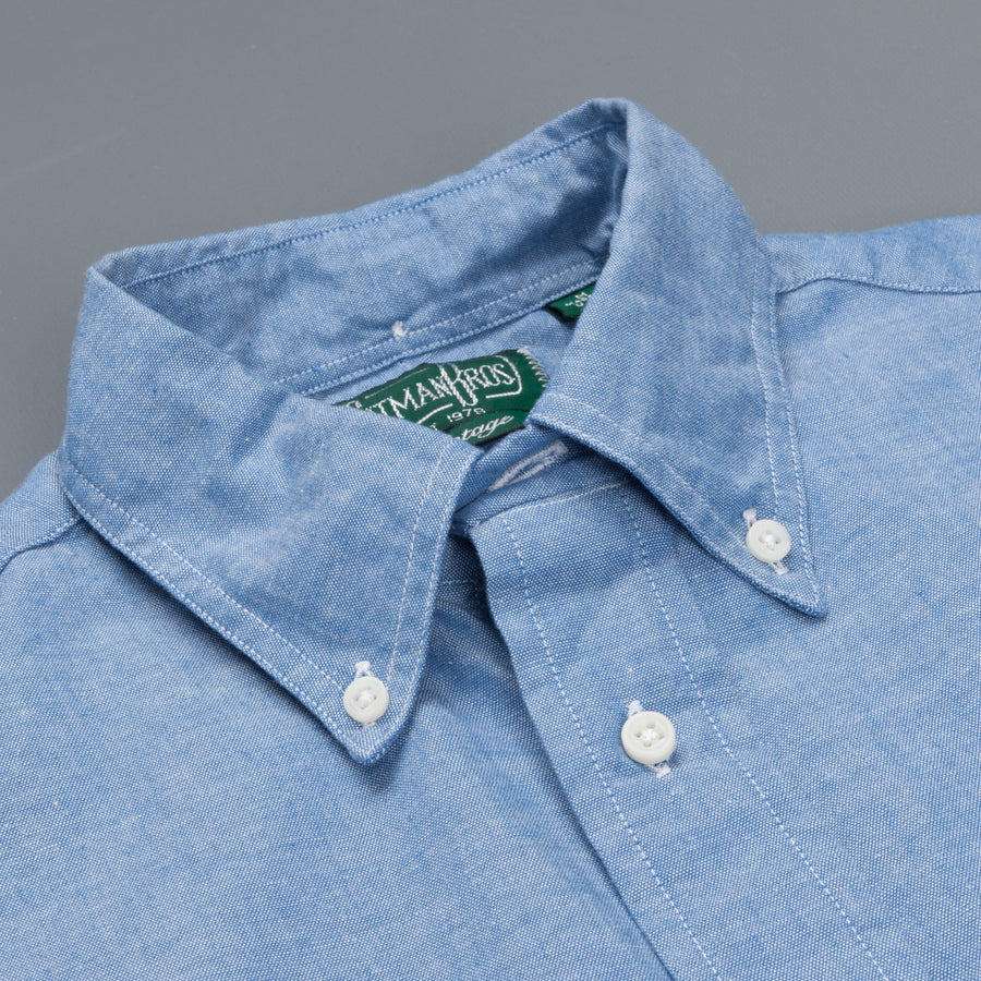 Gitman Vintage Button-Down Shirt Blue Chambray