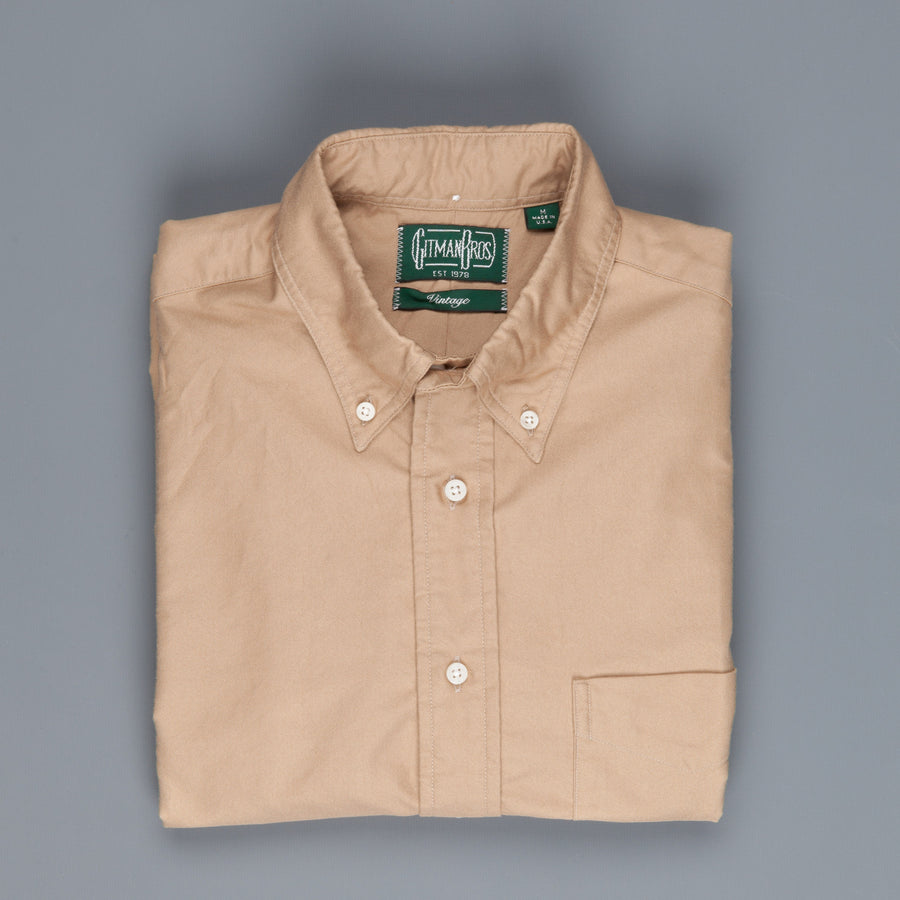 Gitman Vintage Button-Down Shirt Oxford British Khaki