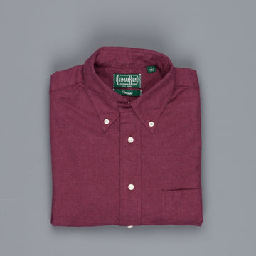 Gitman Vintage Button Down Shirt Flannel burgundy