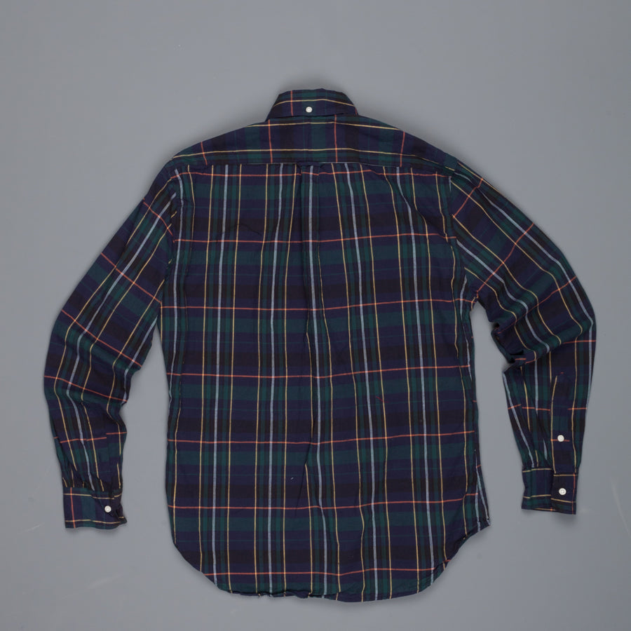 Gitman Vintage Button-Down Shirt Japanese Voile check navy