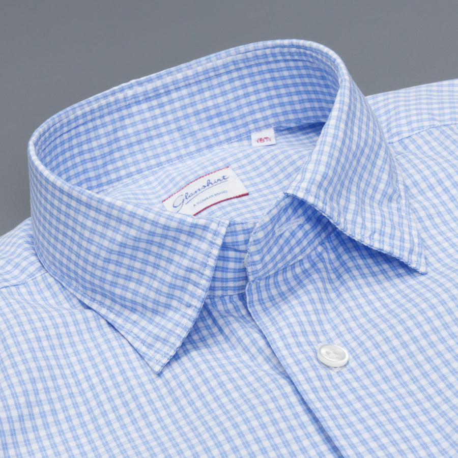 Glanshirt Kurt Light Blue Tattersal