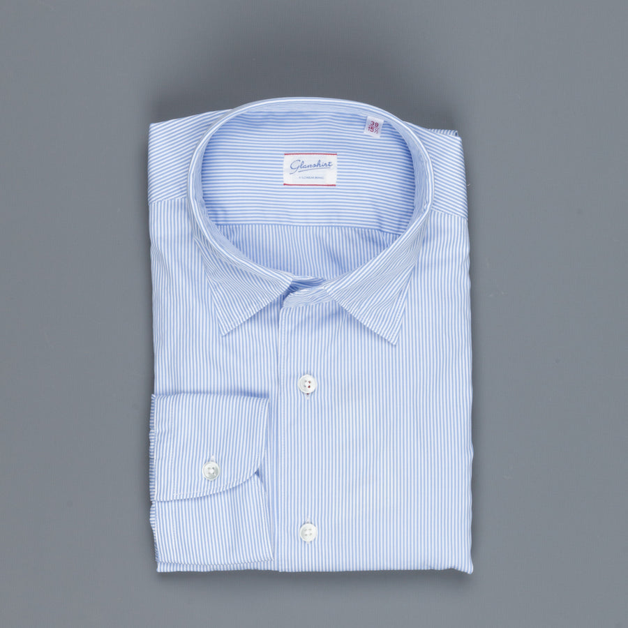 Glanshirt Kurt Fine Light Blue Stripe