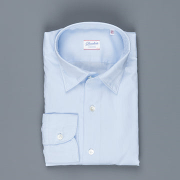 Glanshirt Kurt soft washed oxford celeste