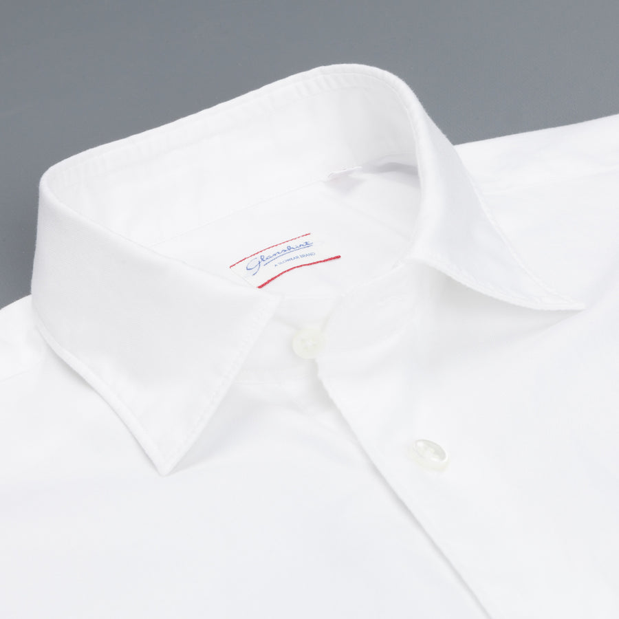 Glanshirt Kurt soft washed oxford white