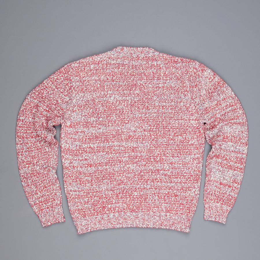 Gray crewneck Psychedelic red