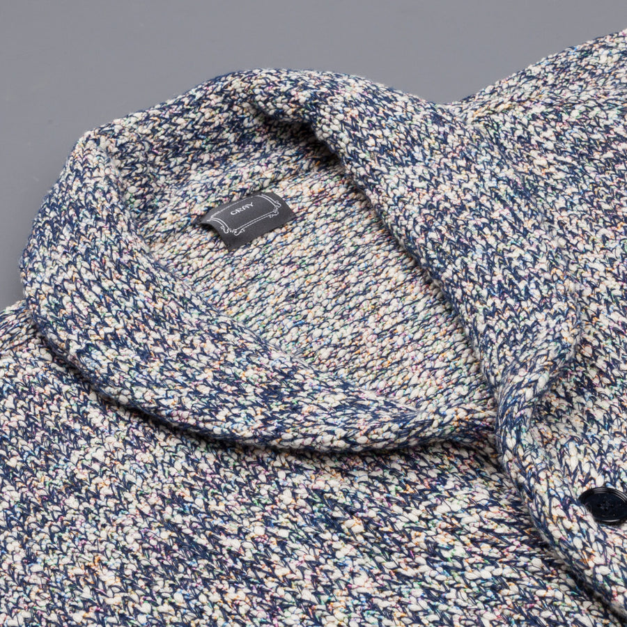 Gray cardigan Roicy psychedelic blue