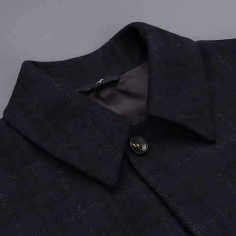 Hevo Cisterino Q coat navy windowpane