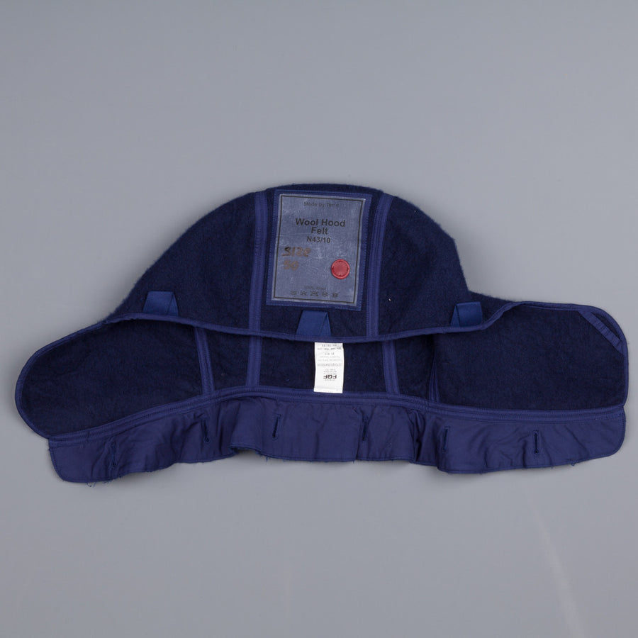 Ten C Wool Hood Felt Blue