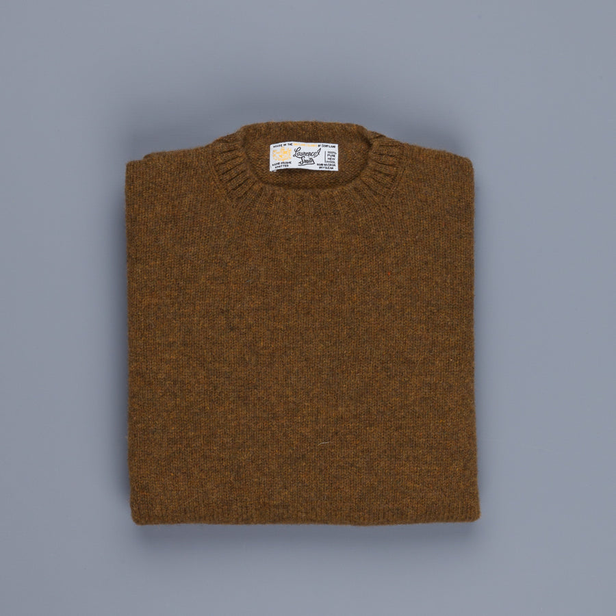 Laurence J. Smith Super Soft Seamless Crew Neck Pullover Dark Olive