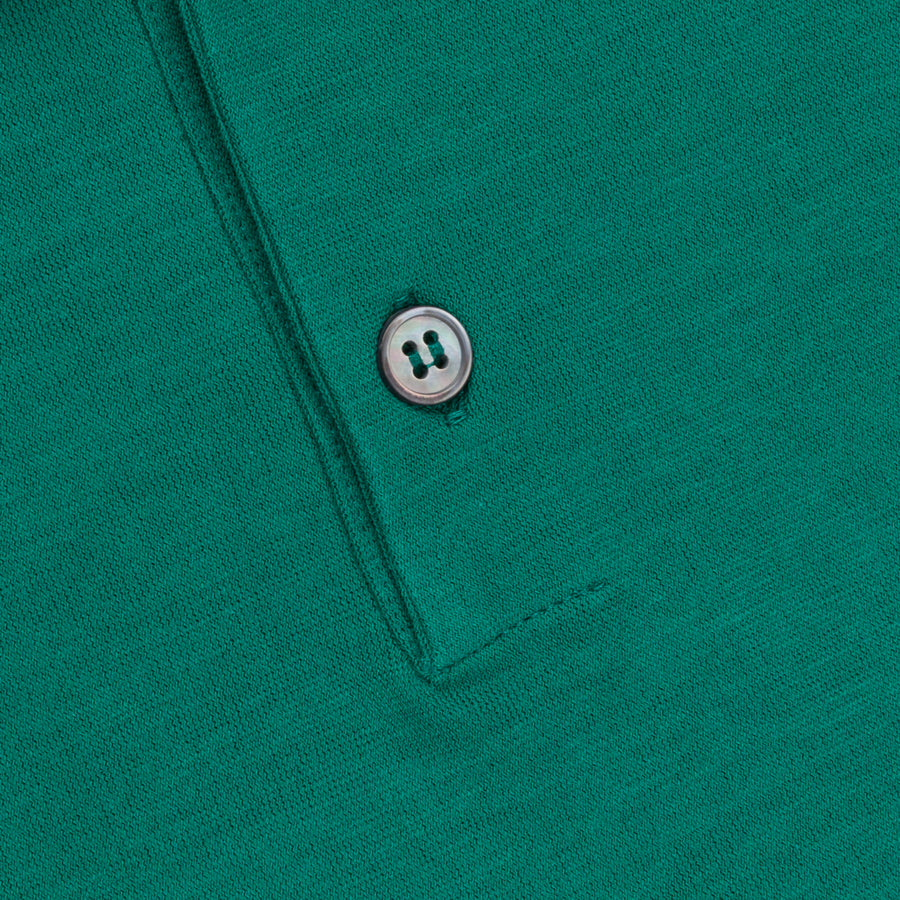 Zanone Polo MC Crepe Cotton Verde