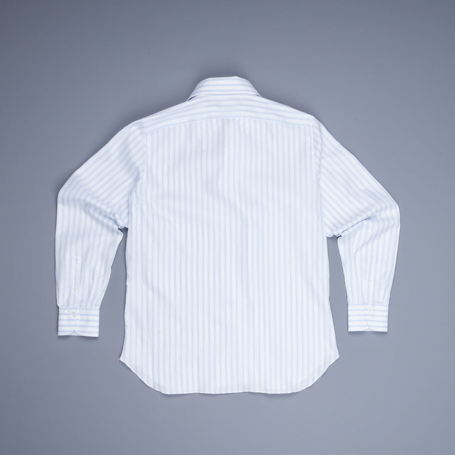Finamore Napoli Shirt Ustica collar Giro Inghlese blu white striped