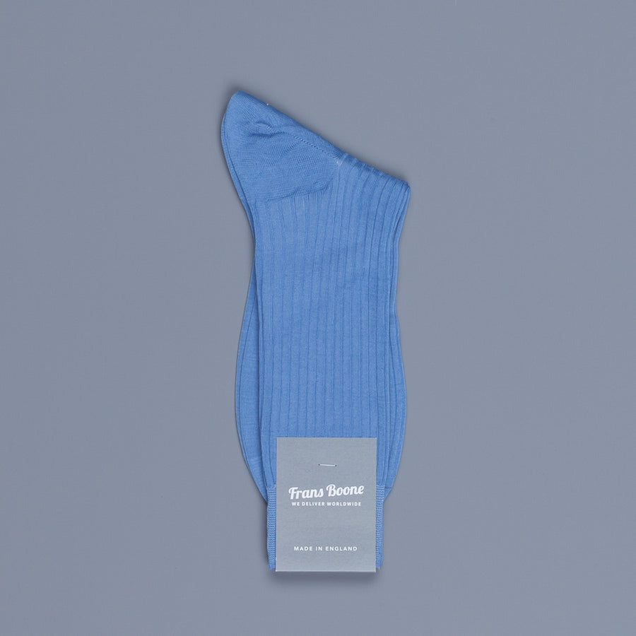 Frans Boone X Pantherella Socks 100% Fil d'Ecosse / Cotton lisle Denim