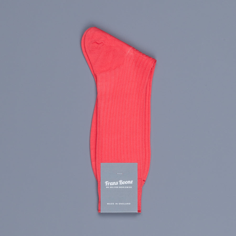 Frans Boone X Pantherella Socks 100% Fil d'Ecosse / Cotton lisle Coral