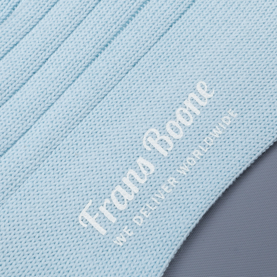 Frans Boone x Pantherella Raynor socks Ice Blue